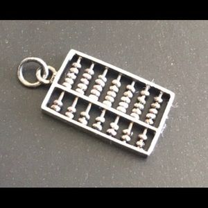 Awesome Abacus 🧮 Sterling Charm 3/4""